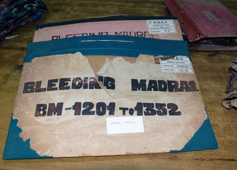 Bleeding Madras fabric books